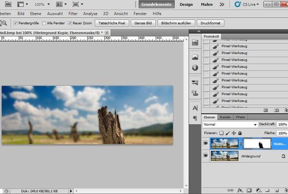 Photoshop - harte Tiefenschärfe, Weichzeichner + Ebenenmaske - (Bilder, Photoshop)