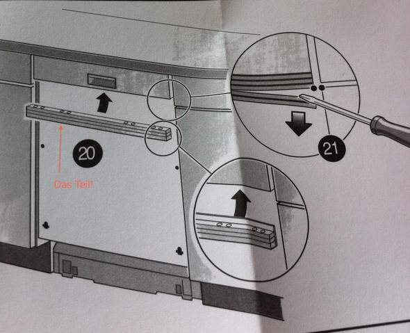 bezeichnung f r zwischenst ck zwischen sp lmachinen bedienfeld und frontblende spuelmaschine. Black Bedroom Furniture Sets. Home Design Ideas