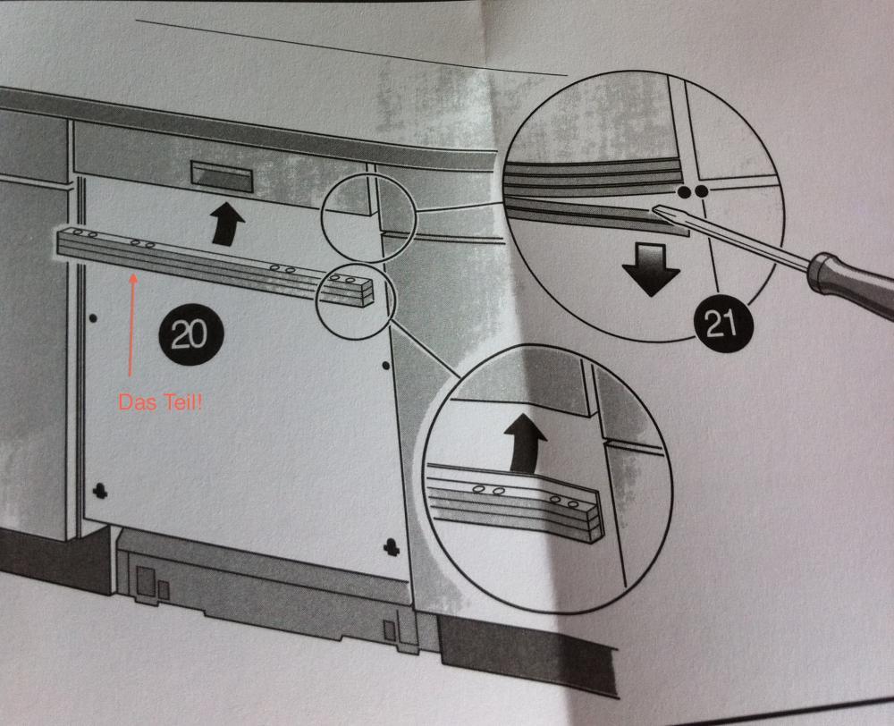 bezeichnung f r zwischenst ck zwischen sp lmachinen bedienfeld und frontblende haus k che. Black Bedroom Furniture Sets. Home Design Ideas