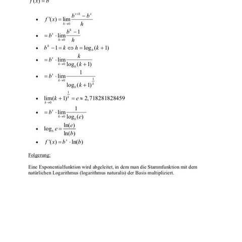 ableitung vom logarithmus