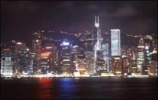 Die Skyline von Hong Kong Island - (Reise, Asien, Hong Kong)
