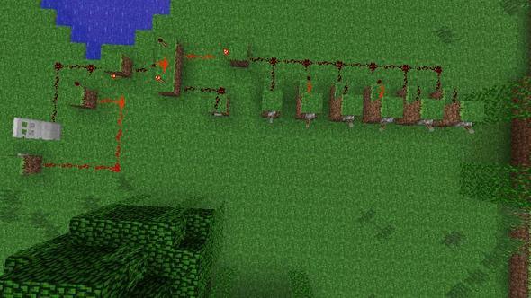 Schloss Schaltung - (Minecraft, bauen, Tür)