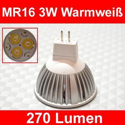 MR16 3W - (Versand, Zoll, China)