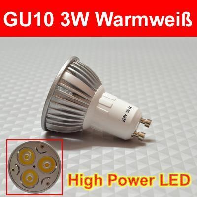 GU10 3W - (Versand, Zoll, China)