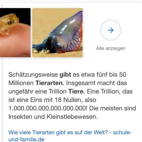 eine trillion wieviel nullen