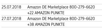 - (Amazon, Kreditkarte)