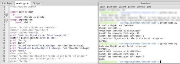 Code+Ausgabe - (Computer, Programm, programmieren)