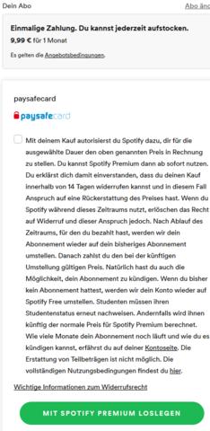 Spotify Mit Paysafecard Bezahlen