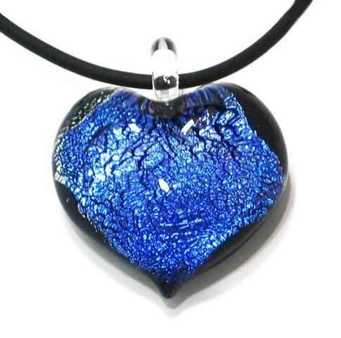 Blauer-Herz-Anhänger - (Liebe, Beziehung, Freundin)