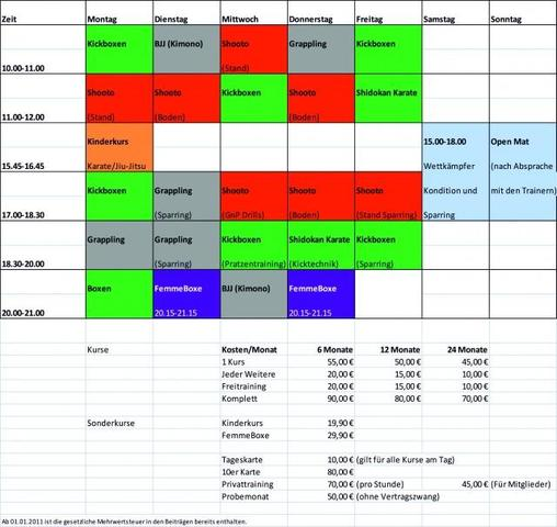 Trainingsplan German Top Team - (Kampfsport, Kampfkunst, Kampfart)