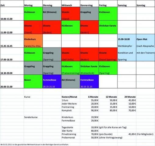 Trainingsplan German Top Team - (Kampfsport, MMA, hart)