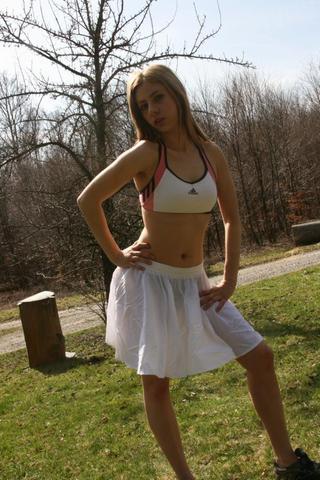 cheerleaderröckchen und sportbikini - (Bikini, Bademode)