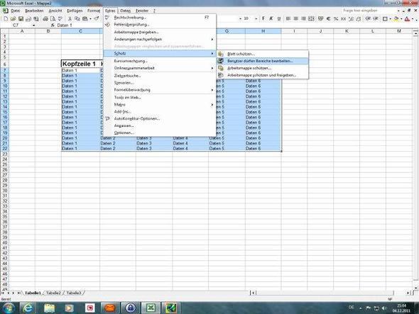 Excel Arbeitsblatt Passwort Schützen : Excel kopfzeile mit passwort schützen microsoft office