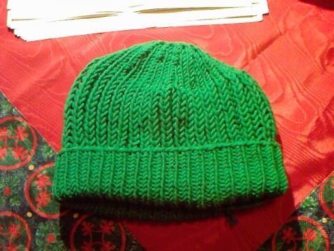 als normale Mütze - (Haushalt, stricken, Handarbeit)