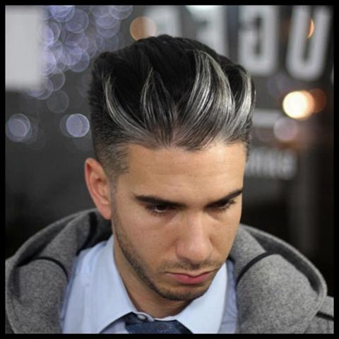 Dunkle haare grau färben