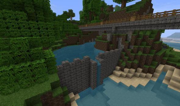 Damm von vorn - (Minecraft, Damm)