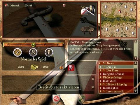 spielbildschirm - (zocken, stronghold crusader)