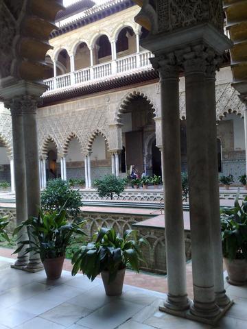 Sevilla, Alcazares - (Urlaub, Spanien, Temperatur)