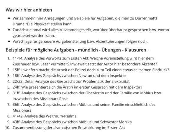 Klausur Ef Die Physiker Hilfe Schule Deutsch
