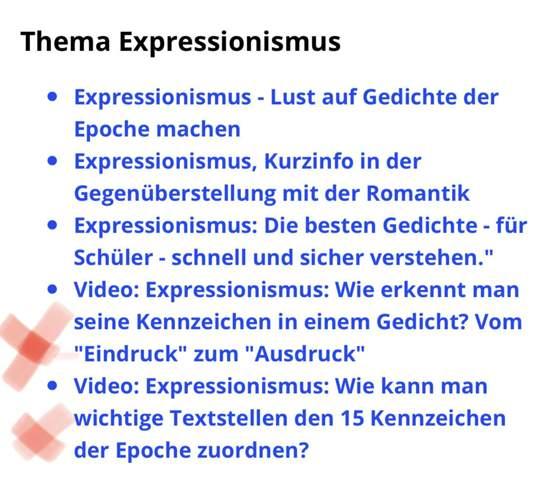 Text Expressionismus Epochenmerkmale Erkennen Schule