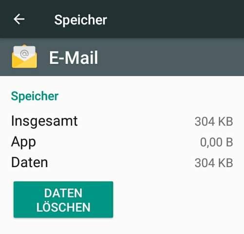 Mail Adresse Löschen