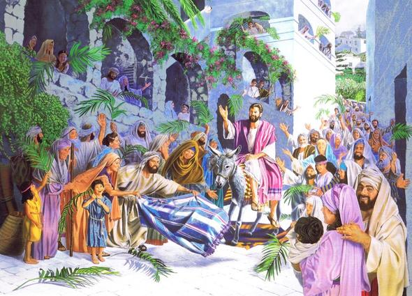 Jesu triumphaler Einzug in Jerusalem - (Christentum, Glaube, evangelisch)