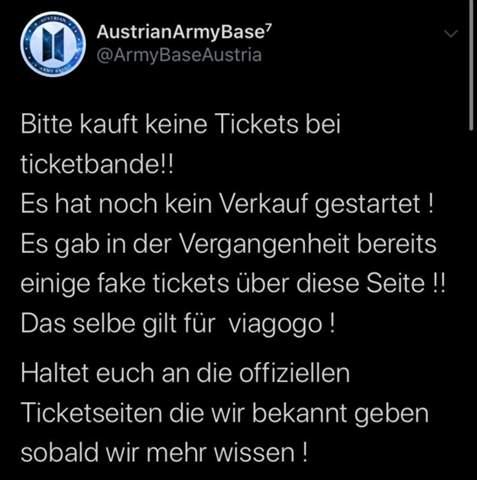 Ticketbande Seriös