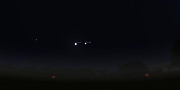Planet Neben Mond
