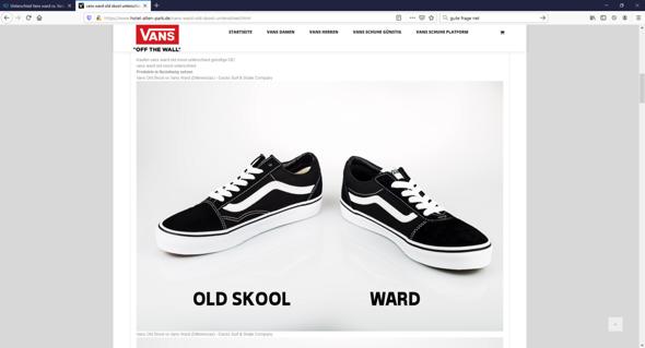 Unterschied Vans ward vs. Vans old school? (Mode, Schuhe