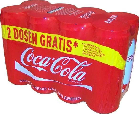 Brauche Coca Cola dosen für ein Schulprojekt (einkaufen, Supermarkt ...