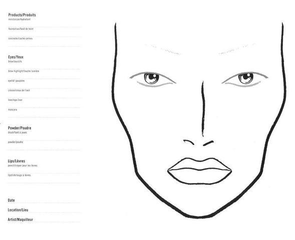 gesicht zum schminken  beauty  zeichnen