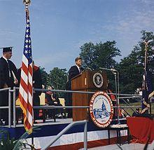 Präsident Kennedy bei seiner Rede an der American University - (Englisch, Geschichte, USA)