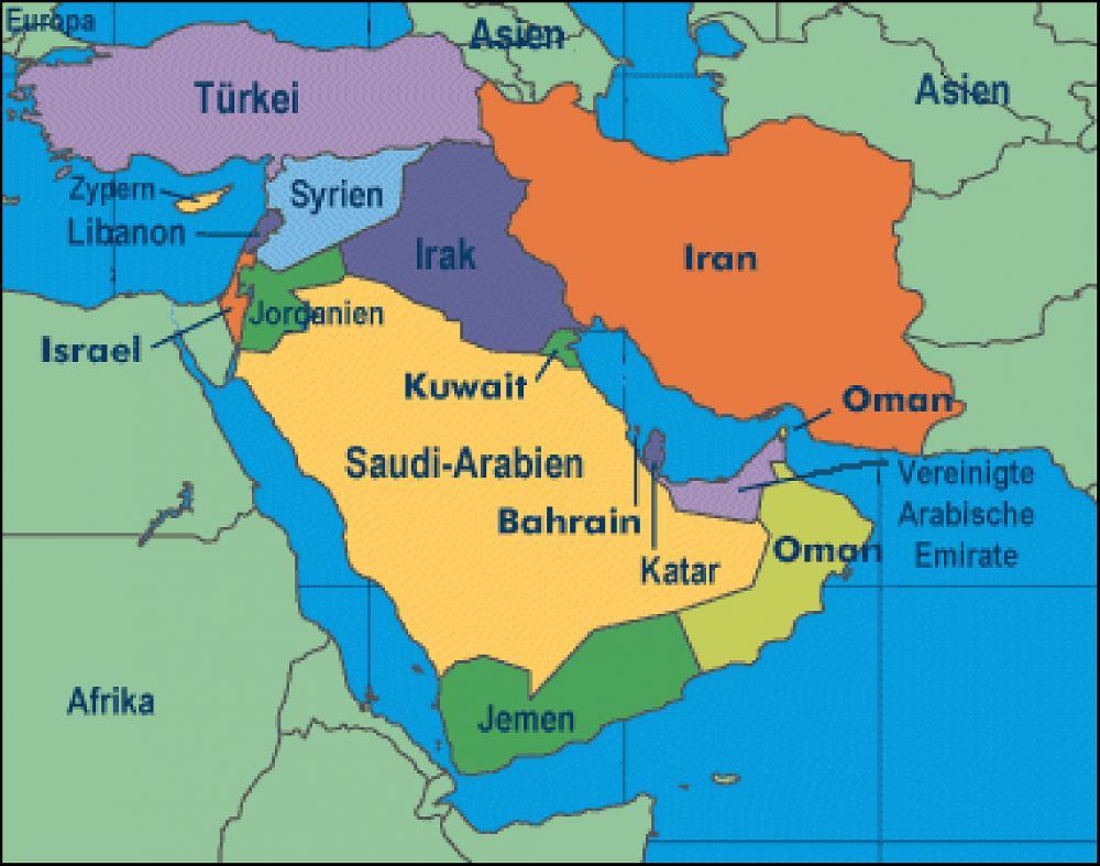 Welche Länder Gehören Zum Orient