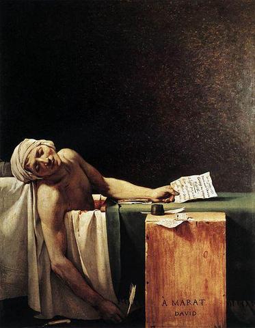 Jean Paul Marat tot in der Badewanne - (Musik, Fernsehen, Tod)