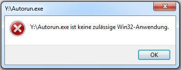 ERROR Fenster - (Windows 7, laufwerk-problem)