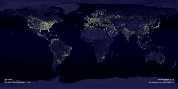 Erde von oben (Link zum Bild ist oben) - (Freizeit, Wissen, Erdkunde)