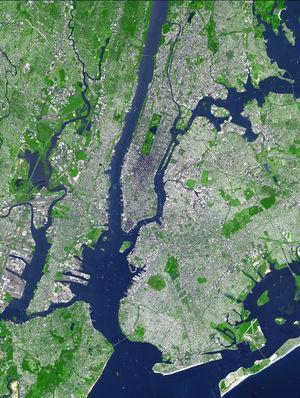New York aus ca. 80km höhe. - (Freizeit, Wissen, Erdkunde)