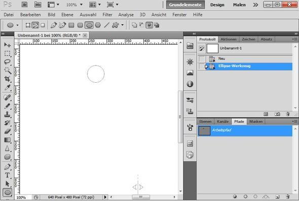 Photoshop - Eigene Vektorform erstellen - (Photoshop, Tutorial, Kreis)
