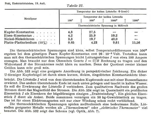 Seebeck - Text - (Elektronik, Elektrik, Thermovoltaik)