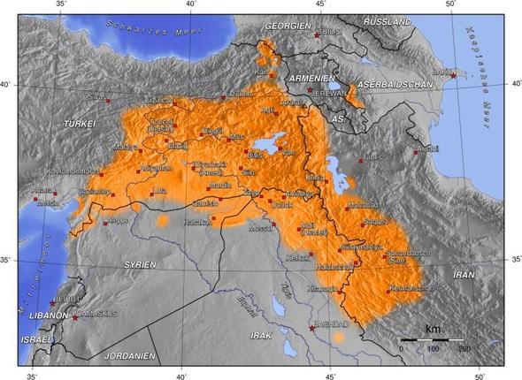 Kurdische Siedlungsgebiete - (Geschichte, Politik)