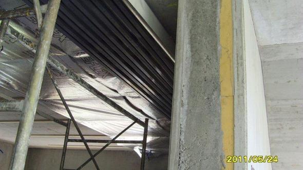 Fassadenteil auf für Keller - (Hausbau, Garage, Architekt)