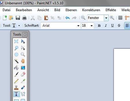 schriftgröße ändern - (Computer, paint, Paint.net)