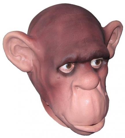 Schimpansen Maske - (Musik, Karneval)