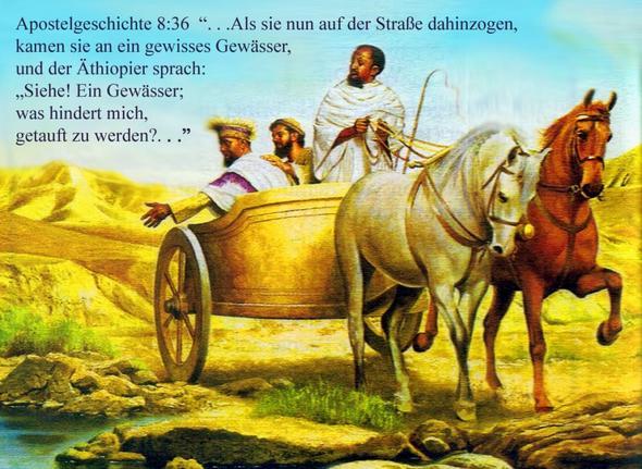 Philippus erklärt einen äthiopischen  Hofbeamten die Bibel - (Glaube, zj)