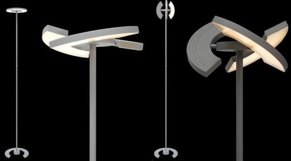 Deckenfluter/Stehlampe Trinitry - (Licht, LED, Lampe)