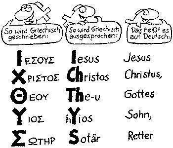 Ichthys - Fisch - (Religion, Fische, Christentum)