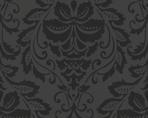 2554-26 von AS Creation - (schwarz, Tapete, Barock)
