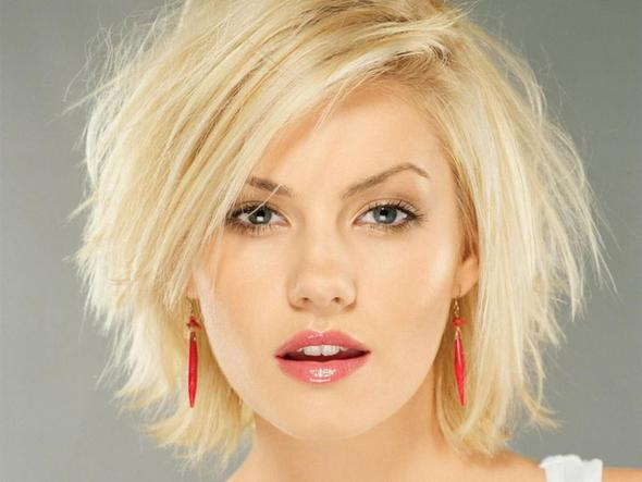 Rote Kurzhaarfrisur Für Rundes Gesicht Haare Beauty Frisur