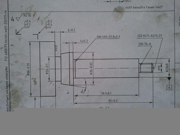Drehteil 2 - (Ausbildung, Prüfung, Zerspanungsmechaniker)
