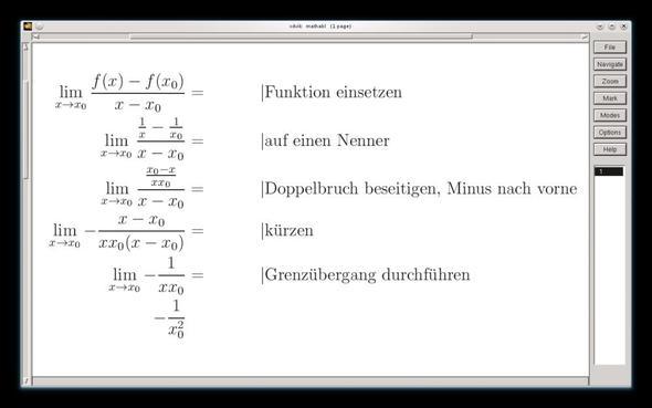Ableitung x-Methode - (Schule, Arbeit, Mathe)